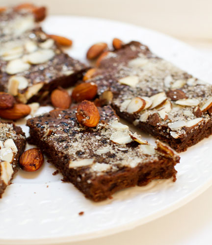 Vegan Mocha Almond Fudge Brownies