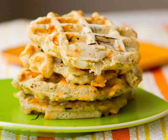 Vegan Herbed Savoury Waffle Recipe