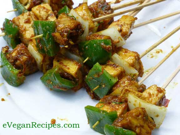 Vegan barbecue Satay Tofu