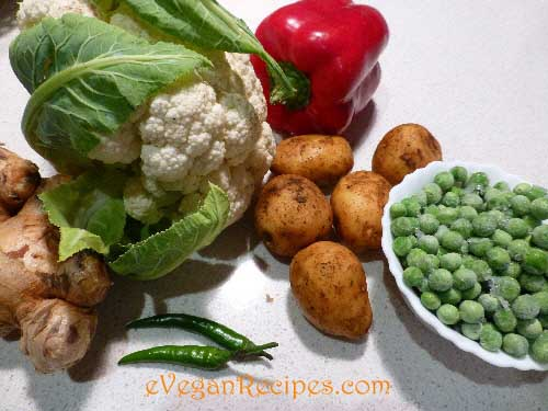 Aloo gobhi ingredients