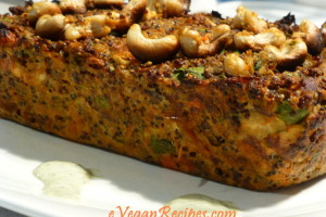 High Protein Quinoa and Lentil Loaf