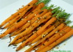 Char grilled carrots with thyme infused olive oil
