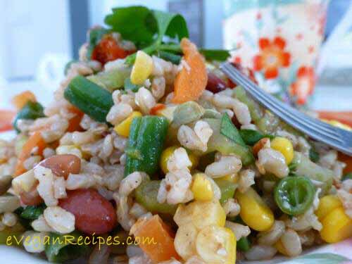 Protein-rich Brown Rice Summer Salad Recipe