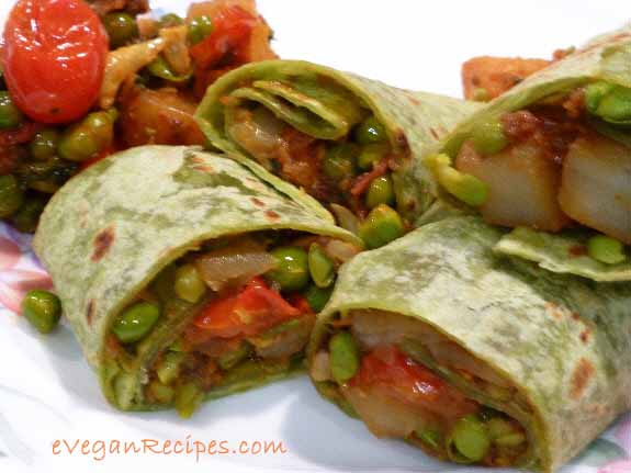 Vegan Wraps Recipes With Curried Vegetables