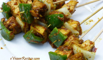 Vegan Barbecue Satay Tofu
