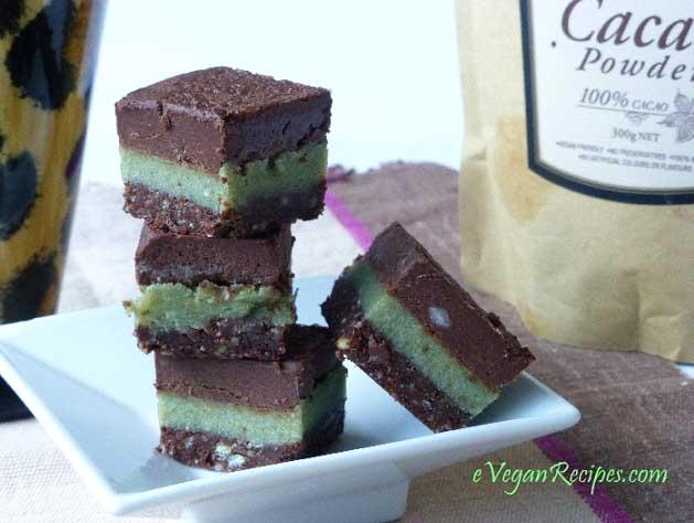 Raw Vegan Choc Mint Slice