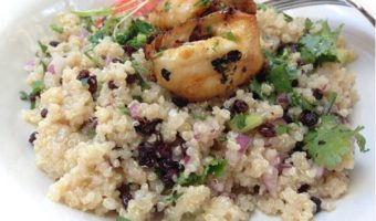 Superfood Quinoa Salad With Eggplant BonBon