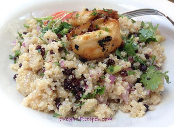 Superfood Quinoa Salad With Eggplant BonBon
