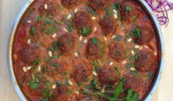 Red Cabbage Koftas in Sugo Russo Sauce