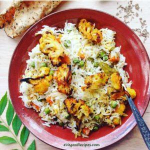 Fragrant Coconut Rice with Turmeric Roasted Cauliflower
