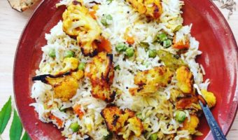 Fragrant Coconut Rice with Turmeric Roasted Cauliflower