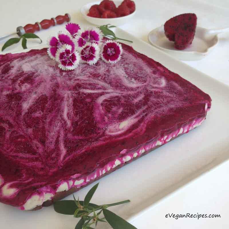 DargonFruit Berry Raw Cheesecake