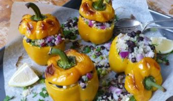 Quinoa and Black Bean Stuffed Capsicums