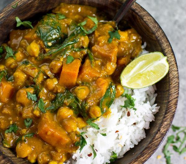 Chickpea Sweet Potato Coconut Curry