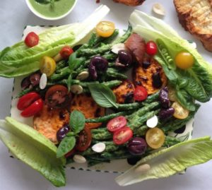 French Bean Nicoise Salad  with Grilled Sweet Potato