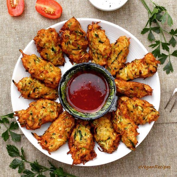 Zucchini Chickpea Corn Cutlets
