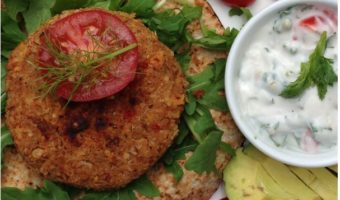 Quinoa and Four Bean Burgers with Coriander Lime Vegannaise