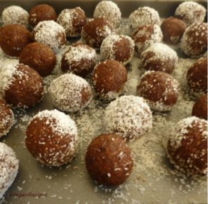 Almond Coconut Cacao Bliss Balls
